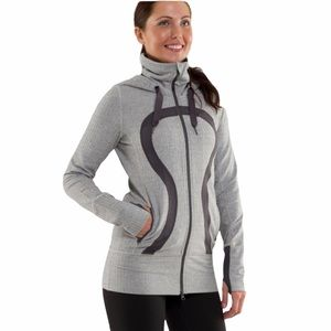 Lululemon stride jacket hood zipper front  size 6